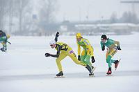 SCHAATSEN: ELBURG: 140110 Natuurijs marathonschaatsen, ©foto Martin de Jong