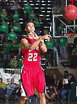 Louisiana Lafayette Ragin Cajuns guard Raymone Andrews (22) in action during the game between the Louisiana Lafayette Ragin Cajuns and the University of North Texas Mean Green at the North Texas Coliseum,the Super Pit, in Denton, Texas. Louisiana Lafayette defeats UNT 57 to 53.