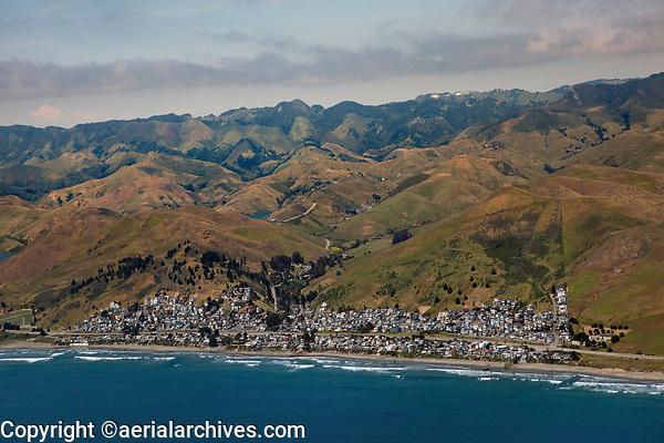 aerial photograph of Cayucos, San Luis Obispo County, California