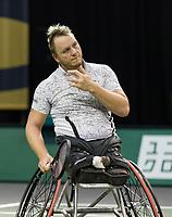 Rotterdam, The Netherlands, 5 march  2021, ABNAMRO World Tennis Tournament, Ahoy,  Quater final wheelchair: Nicolas Peifer (FRA) Photo: www.tennisimages.com/henkkoster
