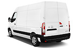 Car pictures of rear three quarter view of 2016 Nissan NV400 Acenta 4 Door Cargo Van Angular Rear
