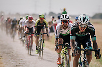 Mark Cavendish  (GBR/Dimension Data) on pavé sector #6<br /> <br /> Stage 9: Arras Citadelle > Roubaix (154km)<br /> <br /> 105th Tour de France 2018<br /> ©kramon