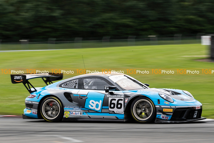 Nick Jones & Scott Malvern, Porsche 911 GT3 R, Team Parker Racing exit Goddards during the British GT & F3 Championship on 10th July 2021