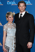 CENTURY CITY, CA - JANUARY 25: Chelsea Kane, Derek Theler at the 66th Annual Directors Guild Of America Awards held at the Hyatt Regency Century Plaza on January 25, 2014 in Century City, California. (Photo by Xavier Collin/Celebrity Monitor)