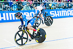 Riders compete on the Women's Sprint Semifinal Race 1 during the 2017 UCI Track Cycling World Championships on 14 April 2017, in Hong Kong Velodrome, Hong Kong, China. Photo by Marcio Rodrigo Machado / Power Sport Images