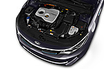 2018 Kia Optima SW PHEV Sense 5 Door Wagon engine high angle detail view