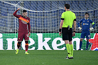 Carles Perez of AS Roma celebrate sfter scoring the goal of 2-0 during the Europa League round of 32 2nd leg football match between AS Roma and Braga at stadio Olimpico in Rome (Italy), February, 25th, 2021. Photo Andrea Staccioli / Insidefoto