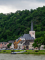 Stiftskirche, St. Goarshausen, Rheinland-Pfalz, Deutschland, Europa<br /> Stiftskirche, St. Goarshausen, Rhineland-Palatinate, Germany, Europe