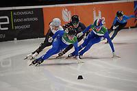 SPEEDSKATING: DORDRECHT: 05-03-2021, ISU World Short Track Speedskating Championships, QF 1500m Ladies, Corinne Stoddard (USA), Alica Porubska (SVK), Natalia Maliszwska (POL), Martina Valcepina (ITA), Arianna Fontana (ITA), ©photo Martin de Jong