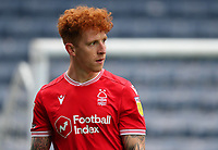 17th October 2020; Ewood Park, Blackburn, Lancashire, England; English Football League Championship Football, Blackburn Rovers versus Nottingham Forest ; Jack Colback of Nottingham Forest leaves the pitch after he is injured