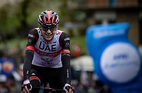 Joe Dombrowski (USA/UAE-Emirates) solo's to victory at stage 4 of the 104th Giro d'Italia 2021 (2.UWT)<br /> <br /> Stage 4 from Piacenza to Sestola (187km)<br /> <br /> ©kramon