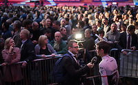 Fränk Schleck (LUX/Trek-Segafredo) interviewed<br /> <br /> Ciao Fabian<br /> <br /> Farewell event in 't Kuipke in Gent/Belgium for Fabian Cancellara after retiring for pro racing (november 2016)