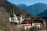 Germany, Upper Bavaria, Ettal: Ettal Abbey, Benedictine Monastery founded 1330 | Deutschland, Bayern, Oberbayern, Ettal: Kloster Ettal, 1330 gegruendete Benediktinerabtei
