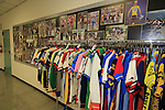 Signed jerseys from the history books on display, Santini Factory, Lallio, Italy. 30th September 2015.<br /> Picture: Eoin Clarke | Newsfile