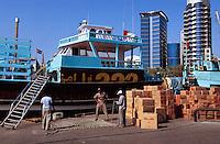 Dhau Hafen (Dhow Wharf) in Deira, Dubai, Vereinigte arabische Emirate (VAE, UAE)