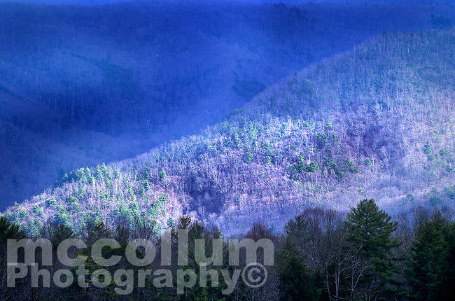 Michael McCollum<br /> 2/18/17<br /> Mountain Light. Cades Cove in the Great Smoky Mountains National Park, Tennessee.