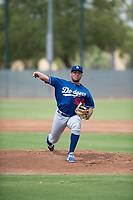 Los Angeles Dodgers starting pitcher Jose Martinez (94) delivers a pitch during an Instructional League game against the Milwaukee Brewers at Maryvale Baseball Park on September 24, 2018 in Phoenix, Arizona. (Zachary Lucy/Four Seam Images)