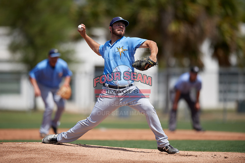 Tampa Bay Rays Blake Bivens (38) during a minor league Spring Training game against the Baltimore Orioles on March 29, 2017 at the Buck O'Neil Baseball Complex in Sarasota, Florida.  (Mike Janes/Four Seam Images)