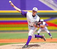 Starting pitcher Justin Collop #22 of the Winston-Salem Dash delivers a pitch to the plate against the Wilmington Blue Rocks at BB&T Ballpark on April 24, 2011 in Winston-Salem, North Carolina.   Photo by Brian Westerholt / Four Seam Images