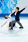 Anna Cappellini and Luca Lanotte of Italy compete in the Figure Skating Team Ice Dance Short Program during the 2014 Sochi Olympic Winter Games at Iceberg Skating Palace on February 8, 2014 in Sochi, Russia. Photo by Victor Fraile / Power Sport Images