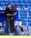 Rangers v St Mirren:  Steven Gerrard substitutes goal scorer Alfredo Morelos