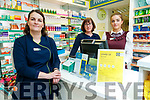 Staff at Kennelly's Pharmacy in Castle Street, Tralee, Helena Rusk, Jean O'Hara and Clara Heinrich.