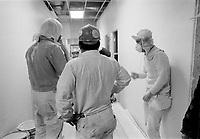ARCHIVE -<br /> <br /> Construction du Village Olympique,<br /> mars 1976<br /> <br /> Photo : Agence Quebec Presse  - Alain Renaud