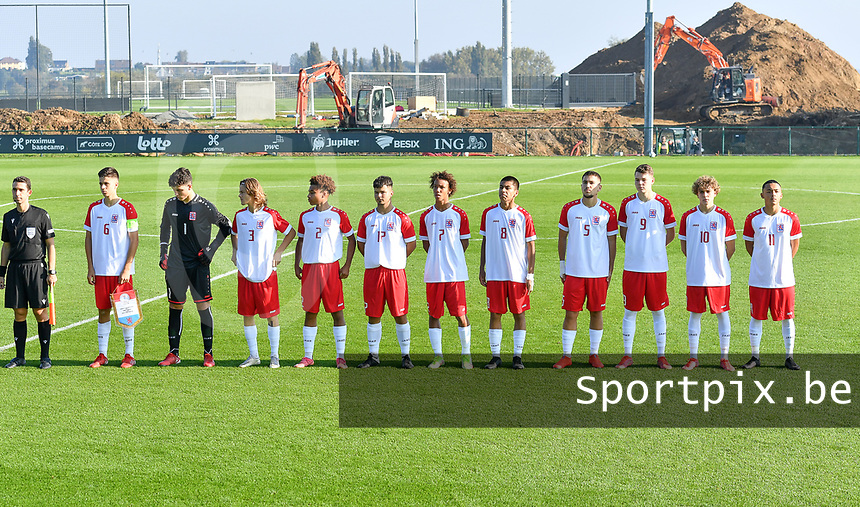 players of Luxemburg pictured during a soccer game between the national teams Under17 Youth teams of  Norway and Luxemburg on day 2 in the Qualifying round in group 3 on saturday 9 th of October 2020  in Tubize , Belgium . PHOTO SPORTPIX | DAVID CATRY