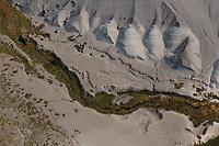 aerial photograph of Salt Creek, Death Valley National Park, northern Mojave Desert, California