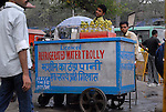 Refrigerated Water Trolly in New Delhi, India.