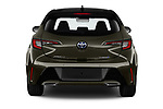 Straight rear view of a 2019 Toyota Corolla Style 5 Door Hatchback stock images