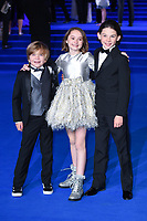 """Joel Dawson, Pixie Davies and Nathanael Saleh<br /> arriving for the """"Mary Poppins Returns"""" premiere at the Royal Albert Hall, London<br /> <br /> ©Ash Knotek  D3467  12/12/2018"""