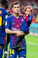 FC Barcelona Phillippe Coutinho during King's Cup Finals match between Sevilla FC and FC Barcelona at Wanda Metropolitano in Madrid, Spain. April 21, 2018.  *** Local Caption *** © pixathlon<br /> Contact: +49-40-22 63 02 60 , info@pixathlon.de