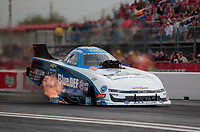 Apr 12, 2019; Baytown, TX, USA; NHRA funny car driver John Force during qualifying for the Springnationals at Houston Raceway Park. Mandatory Credit: Mark J. Rebilas-USA TODAY Sports