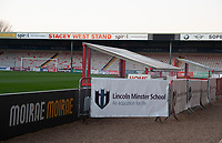 A general view of Sincil Bank, home of Lincoln City FC<br /> <br /> Photographer Andrew Vaughan/CameraSport<br /> <br /> The EFL Sky Bet League Two - Lincoln City v Exeter City - Tuesday 26th February 2019 - Sincil Bank - Lincoln<br /> <br /> World Copyright © 2019 CameraSport. All rights reserved. 43 Linden Ave. Countesthorpe. Leicester. England. LE8 5PG - Tel: +44 (0) 116 277 4147 - admin@camerasport.com - www.camerasport.com