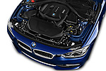 Car stock 2018 BMW 3 Series Touring 330i xDrive 5 Door Wagon engine high angle detail view