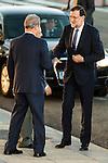 President of PP, Mariano Rajoy attends to the debate between the 4 principals candidates at Palacio de Congresos in Madrid. June 13, 2016. (ALTERPHOTOS/BorjaB.Hojas)