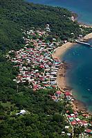 aerial photograph of Taboga, Taboga Island, Gulf of Panama, Panama | fotografía aérea de Taboga, Isla de Taboga, Golfo de Panamá
