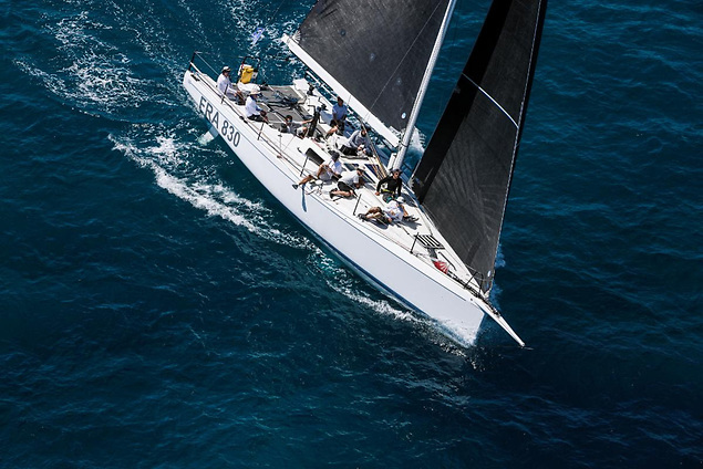 Second attempt at the Rolex Fastnet Race for Philippe Frantz's team on his NMD 43 Albator © Tim Wright/photoaction.com