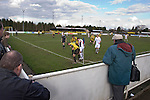 Southport players attempt to waste precious seconds during the final minutes of their match against Harrogate Town at Wetherby Road, Harrogate. The Conference North match was won 3-2 by Southport, a result which kept the Sandgrounders on course for top spot in the division while Harrogate Town remained bottom.