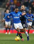 27.02.2019: Rangers v Dundee: Jermain Defoe and James Horsfield