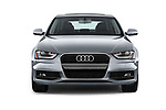 Car photography straight front view of a 2015-2016 Audi A4 Premium 4 Door Sedan