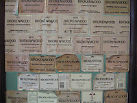 Wine labels, Hunter Valley wine country, Australia