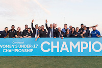 Bradenton, FL - Sunday, June 12, 2018: CONCACAF during a U-17 Women's Championship Finals match between USA and Mexico at IMG Academy.  USA defeated Mexico 3-2 to win the championship.