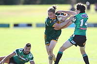 The Wyong Roos play Northern Lakes Warriors in Round 8 of the Reserve Grade Central Coast Rugby League Division at Morry Breen Oval on 27th of May, 2019 in Kanwal, NSW Australia. (Photo by Paul Barkley/LookPro)