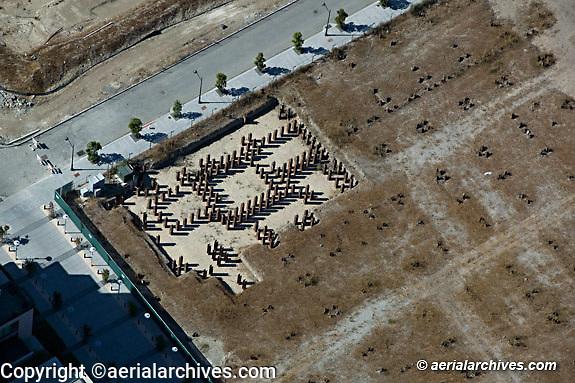 Aerial photograph Mission Bay construction San Francisco California