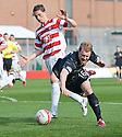 ::  ABERDEEN'S STEVEN SMITH GOES DOWN IN THE BOX AFTER BEING CHALLENGED BY HAMILTON'S GARY MCDONALD TO WIN A PENALTY::.25/04/2011  sct_jsp015_hamilton_v_aberdeen  .Copyright  Pic : James Stewart.James Stewart Photography 19 Carronlea Drive, Falkirk. FK2 8DN      Vat Reg No. 607 6932 25.Telephone      : +44 (0)1324 570291 .Mobile              : +44 (0)7721 416997.E-mail  :  jim@jspa.co.uk.If you require further information then contact Jim Stewart on any of the numbers above........