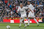 Real Madrid's Pepe (l) and Raphael Varane during La Liga match.March 02,2013. (ALTERPHOTOS/Acero)