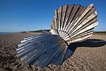 Great Britain, England, Suffolk, Aldeburgh: The Scallop, Clam shell celebrating the music of Benjamin Britten