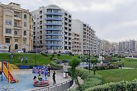 Spielplatz in Sliema, Malta, Europa